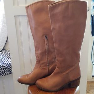 Sam Edelman Brown Leather Tall Boots